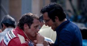 GP de Monaco. Mauro Forghieri y Niki Lauda