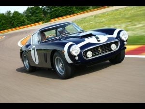 Sir Stirling Moss y Ferrari 250 GT Berlinetta