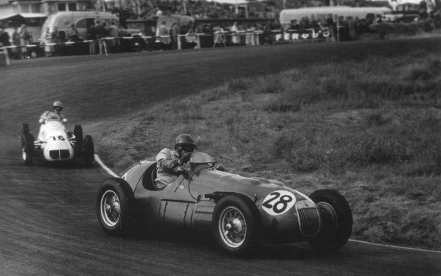 1952 GP Holanda- Duncan Hamilton (hwm-alta) 7º, Jan Flinterman, Chico Landi (maserati a6gcm) 9º