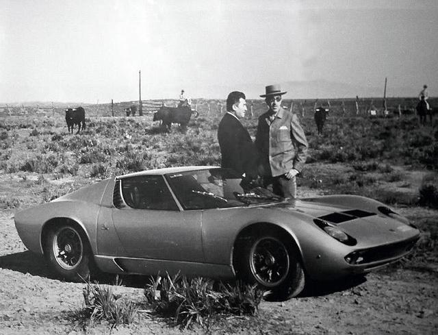 Ferrucio Lamborghini y Eduardo Miura