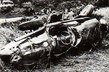 GP Alemania. Estado de la Maserati de Pinocho luego de desbarrancarse