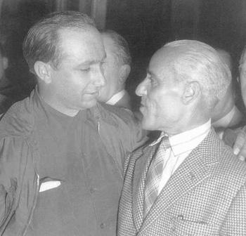 Juan M. Fangio y Tazio Novolari.