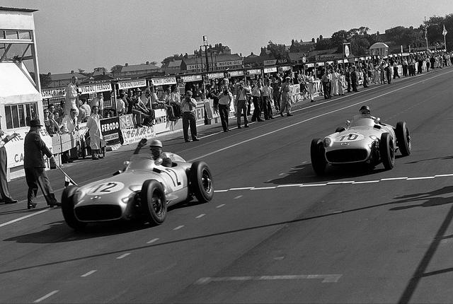 1955 GP de Gran Bretaña - Moss y Fangio