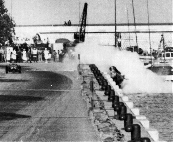 1955 GP de Monaco - Ascari cae al mar