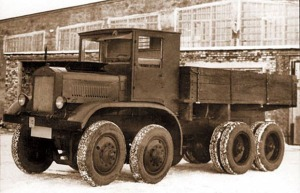 Model a snowbird 1932 austin seven prototype six wheeled lorry
