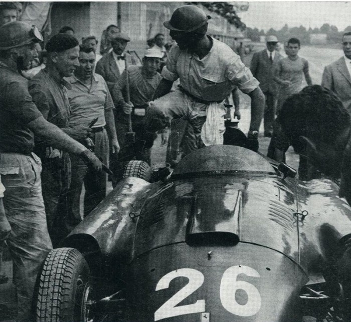 1956 GP de Europa (Monza) Fangio y Collins