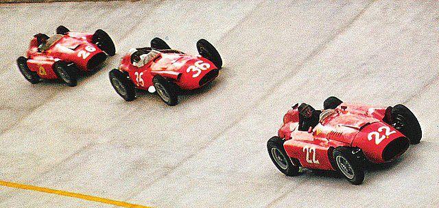 1956 GP de Europa (Monza) - #22 Fangio, #36 Moss y #26 Collins