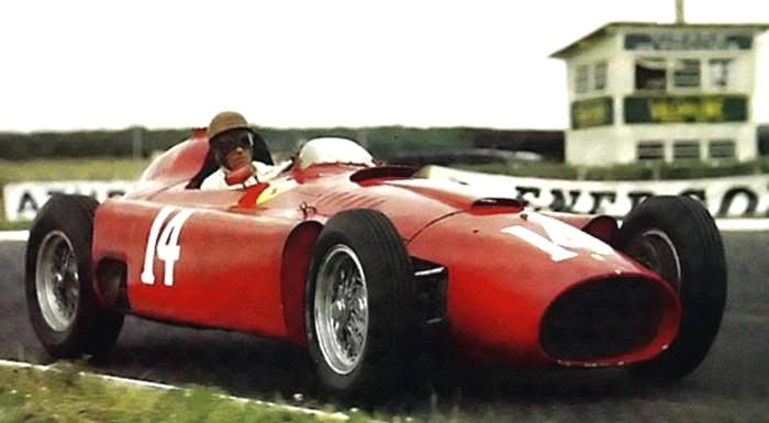 1956 GP de Francia - Ferrari D50 - Peter Collins
