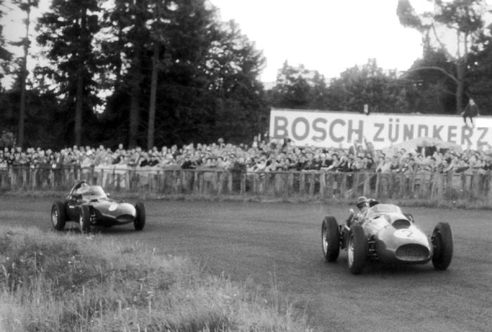 1958 GP de Alemania - Nurburgring - Peter Collins (Ferrari), Tony Brooks (vanwall)