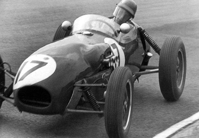 1958 GP de Belgica  spa - cliff allison (lotus 12-climax)