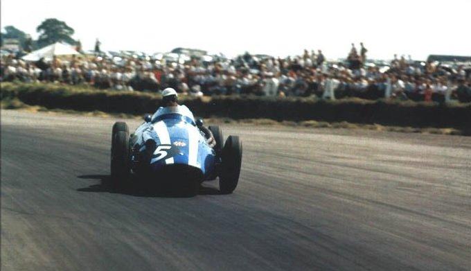 1958 GP de Gran Bretaña Carroll Shelby, Maserati 250F