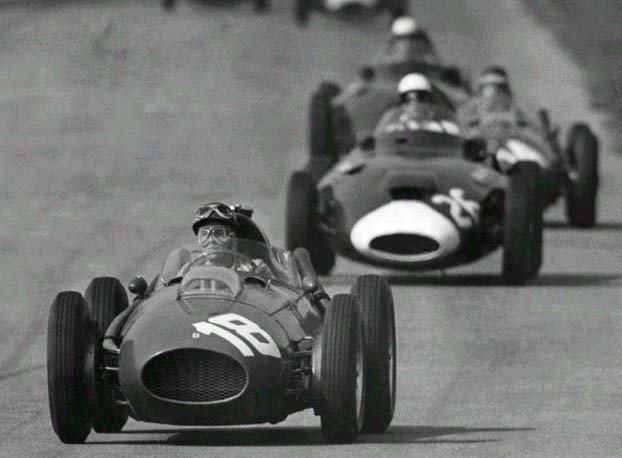 1958 GP de Italia Phil Hill Ferrari D246 Stirling Moss (Vanwall)