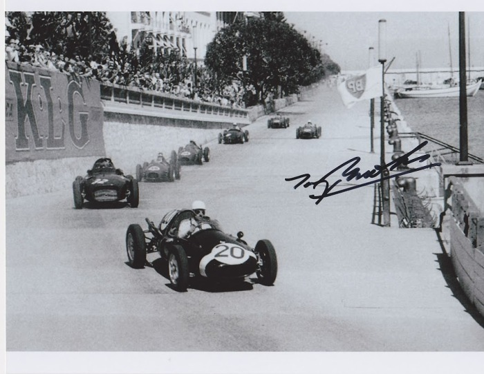 1958 GP de Monaco - Maurice Trintignant (Cooper-Climax), Tony Brooks (Vanwall) - signed Brooks