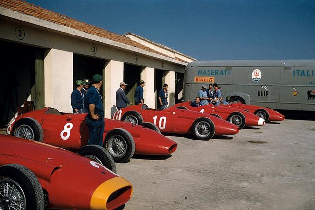 GP de Italia 1957 Maserati - Fangio, Scarlatti, Godia, Schell, Behra