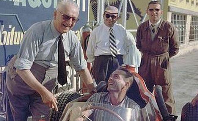 1959 GP de Italia - Phil Hill- Enzo Ferrari-Monza