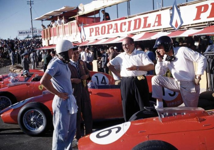 1959 GP de Portugal Phil Hill y Carlo Chitti