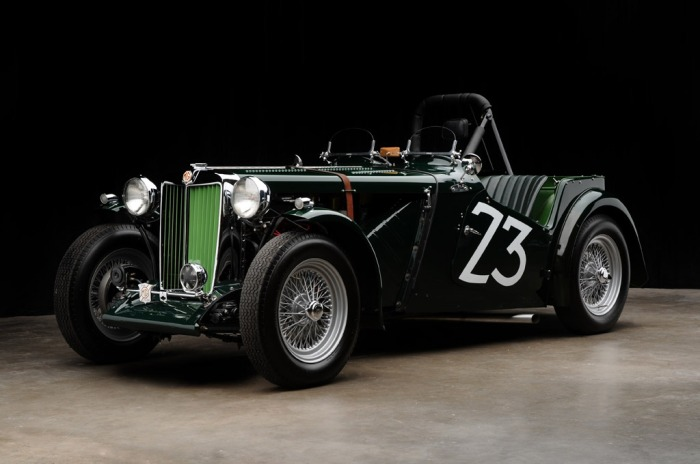 1949 MG TC (Primer coche de carreras de Carroll Shelby)