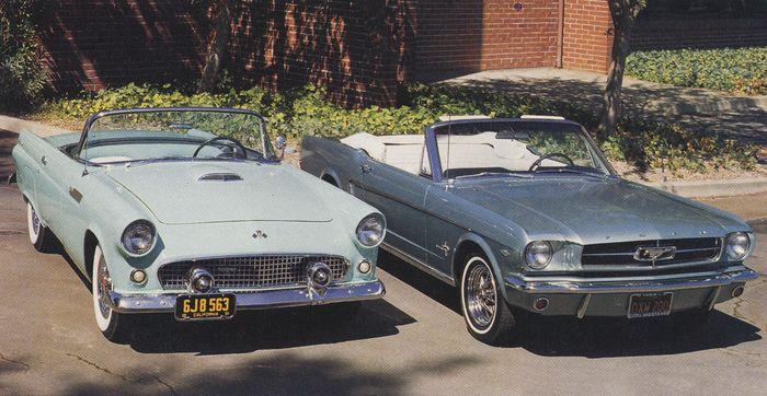 1955 Thunderbird vs. 1965 Mustang
