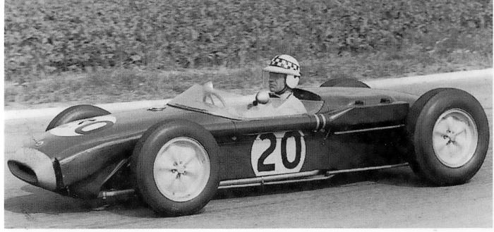 1960 GP de Francia Innes Ireland (Lotus 18 high-speed nose)