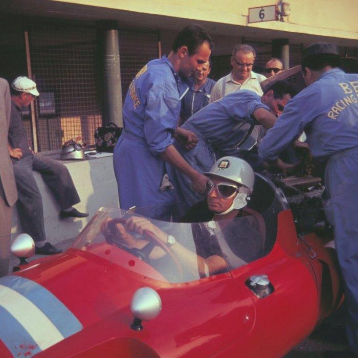 1960 GP de Italia  Alfonso Thiele en su Cooper Maserati T51 de la Scudería Centro Sud