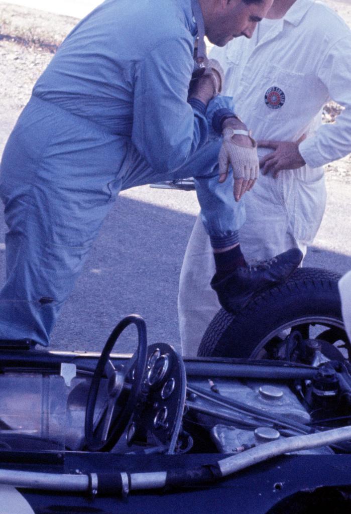 1961 GP de EEUU Watkins Glen Jack Brabham