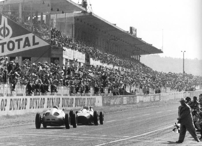 1961 GP de Francia reims - giancarlo baghetti (ferrari 156), dan gurney (porsche 4-cyl)