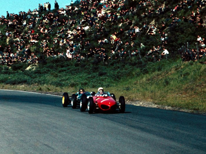1961 GP de Holanda - Jim-Clark Lotus - Ferrari Phil Hill