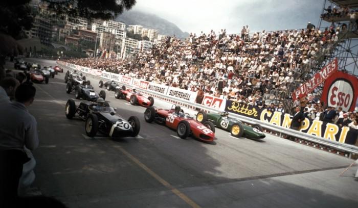 1961 GP de Mónaco Salida