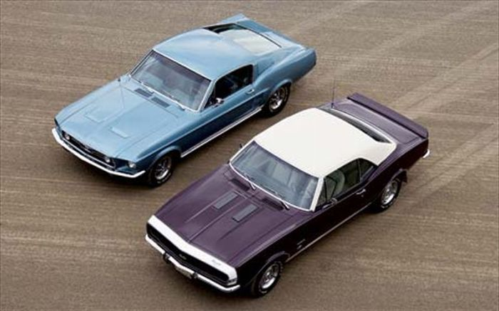 1967 chevrolet camaro - 1967 ford mustang