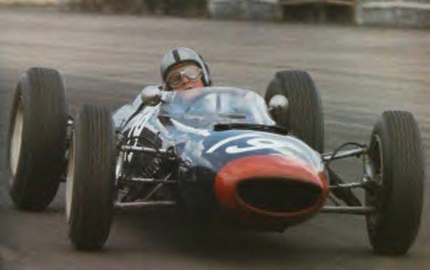 1962 GP de EEUU Roy Salvadori Lola Mk4