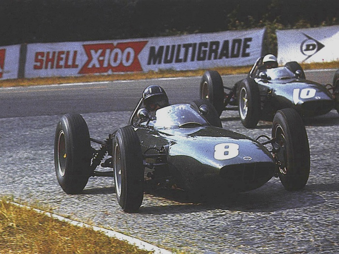 1962 GP de Francia Graham Hill - Richie Ginther (by f1_history)
