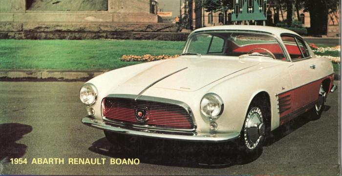 1954 Abarth Renault Fregate Boano