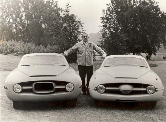 1954 Simca Abarth Ghia 1300 y 1953 Fiat Abarth Ghia 1100